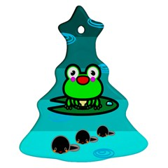 Frog Tadpole Green Ornament (christmas Tree)