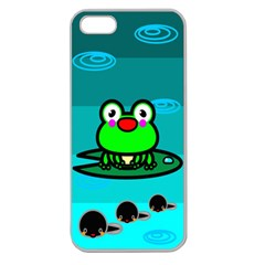 Frog Tadpole Green Apple Seamless Iphone 5 Case (clear)