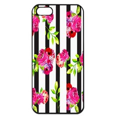 Flower Rose Apple Iphone 5 Seamless Case (black)