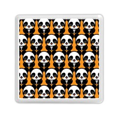 Halloween Night Cute Panda Orange Memory Card Reader (square)