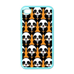 Halloween Night Cute Panda Orange Apple Iphone 4 Case (color)