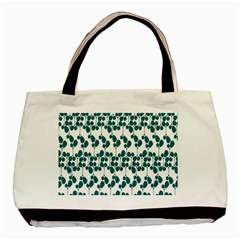Flower Tree Blue Basic Tote Bag (two Sides) by AnjaniArt