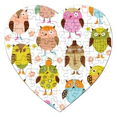 Highres Owls Jigsaw Puzzle (heart)