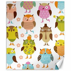Highres Owls Canvas 20  X 24