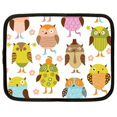 Highres Owls Netbook Case (large) by AnjaniArt