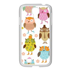 Highres Owls Samsung Galaxy S4 I9500/ I9505 Case (white)