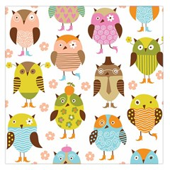 Highres Owls Large Satin Scarf (square) by AnjaniArt
