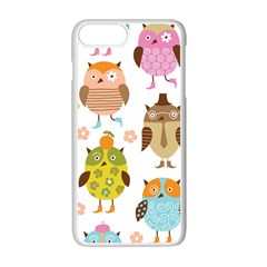 Highres Owls Apple Iphone 7 Plus White Seamless Case by AnjaniArt