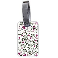 Leaf Back Purple Copy Luggage Tags (one Side)