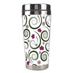 Leaf Back Purple Copy Stainless Steel Travel Tumblers
