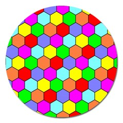 Hexagonal Tiling Magnet 5  (round) by AnjaniArt