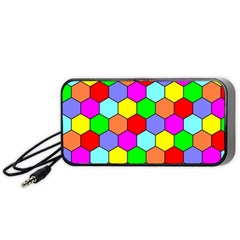 Hexagonal Tiling Portable Speaker (black)  by AnjaniArt