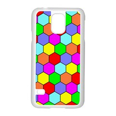 Hexagonal Tiling Samsung Galaxy S5 Case (white) by AnjaniArt