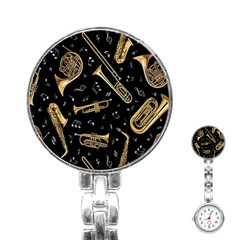 Instrument Saxophone Jazz Stainless Steel Nurses Watch by AnjaniArt