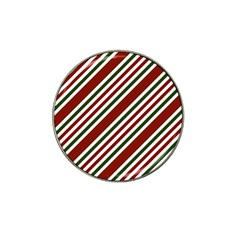 Line Christmas Stripes Hat Clip Ball Marker (10 Pack)