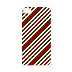 Line Christmas Stripes Apple Iphone 4 Case (white)