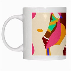 Girl Colorful Copy White Mugs by AnjaniArt
