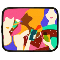 Girl Colorful Copy Netbook Case (xxl)  by AnjaniArt
