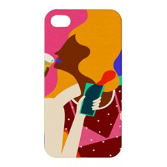 Girl Colorful Copy Apple Iphone 4/4s Hardshell Case by AnjaniArt