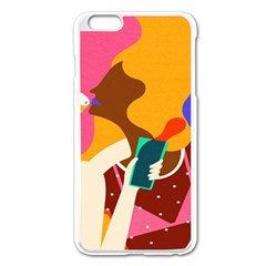 Girl Colorful Copy Apple Iphone 6 Plus/6s Plus Enamel White Case by AnjaniArt