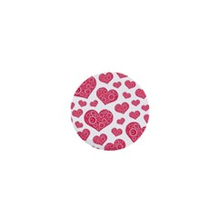 Heart Love Pink Back 1  Mini Buttons by AnjaniArt