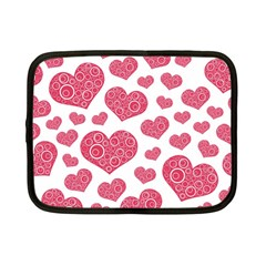 Heart Love Pink Back Netbook Case (small)