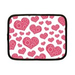 Heart Love Pink Back Netbook Case (Small)  Front