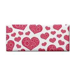 Heart Love Pink Back Cosmetic Storage Cases by AnjaniArt