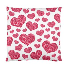 Heart Love Pink Back Standard Cushion Case (two Sides)