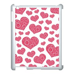 Heart Love Pink Back Apple Ipad 3/4 Case (white)