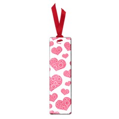 Heart Love Pink Back Small Book Marks by AnjaniArt