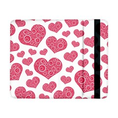 Heart Love Pink Back Samsung Galaxy Tab Pro 8 4  Flip Case by AnjaniArt