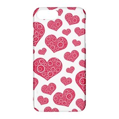 Heart Love Pink Back Apple Iphone 7 Plus Hardshell Case by AnjaniArt