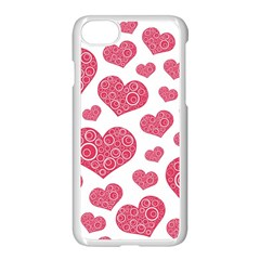 Heart Love Pink Back Apple Iphone 7 Seamless Case (white) by AnjaniArt
