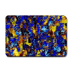 Network Blue Color Abstraction Small Doormat