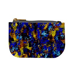 Network Blue Color Abstraction Mini Coin Purses