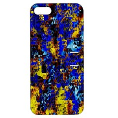 Network Blue Color Abstraction Apple Iphone 5 Hardshell Case With Stand
