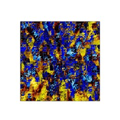 Network Blue Color Abstraction Satin Bandana Scarf by AnjaniArt
