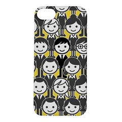 Man Girl Face Standing Apple Iphone 5s/ Se Hardshell Case by AnjaniArt