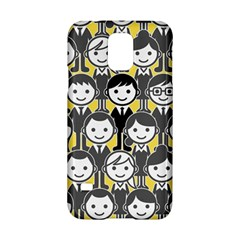 Man Girl Face Standing Samsung Galaxy S5 Hardshell Case