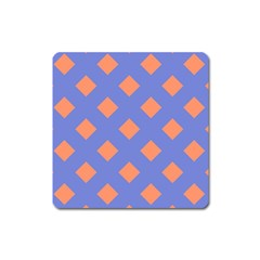 Orange Blue Square Magnet by AnjaniArt