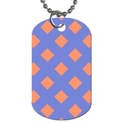 Orange Blue Dog Tag (two Sides) by AnjaniArt