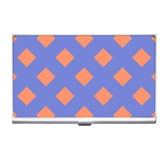 Orange Blue Business Card Holders by AnjaniArt