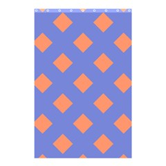Orange Blue Shower Curtain 48  X 72  (small)  by AnjaniArt