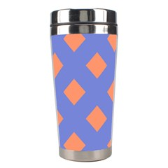 Orange Blue Stainless Steel Travel Tumblers by AnjaniArt