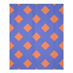 Orange Blue Shower Curtain 60  X 72  (medium)  by AnjaniArt