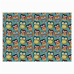 Owl Eye Blue Bird Copy Large Glasses Cloth (2 Side) by AnjaniArt