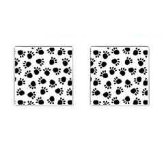 Paws Black Animals Cufflinks (square)