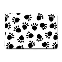 Paws Black Animals Small Doormat
