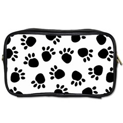 Paws Black Animals Toiletries Bags 2 Side